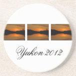 Puesta del sol en el lago Fox; Recuerdo del territ Posavasos Manualidades