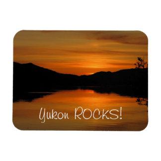 Puesta del sol en el lago Fox; Recuerdo del territ Rectangle Magnet