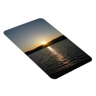 Puesta del sol en el lago Onota: Vertical Imán Foto Rectangular