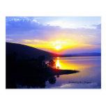 Puesta del sol en el lago Sardis Postal
