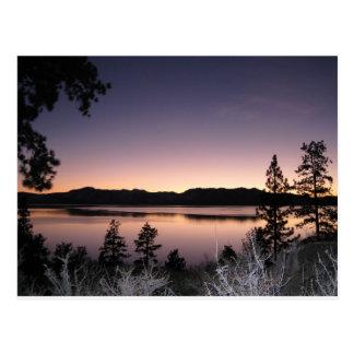 Puesta del sol en el lago Tahoe Postal
