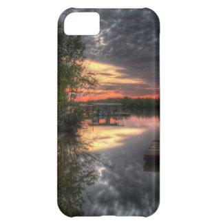 Puesta del sol en el lago Truman, Varsovia MES Funda iPhone 5C