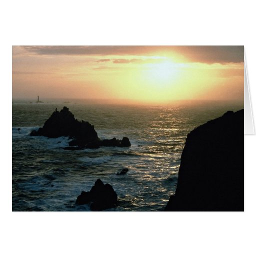 Puesta del sol en el Land's End en la Riviera de C Tarjetas
