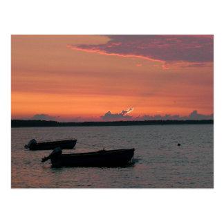 Puesta del sol en el mar Báltico Postal