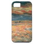 Puesta del sol en el mar por Renoir, arte del iPhone 5 Case-Mate Cobertura