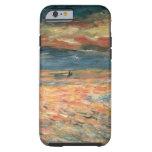 Puesta del sol en el mar por Renoir, arte del Funda De iPhone 6 Tough