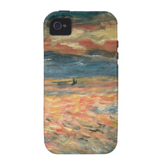 Puesta del sol en el mar por Renoir, arte del iPhone 4/4S Fundas