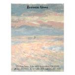 Puesta del sol en el mar por Renoir, arte del Membretes Personalizados