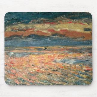 Puesta del sol en el mar por Renoir, arte del Tapetes De Ratón