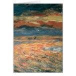 Puesta del sol en el mar por Renoir, arte del Tarjeta De Felicitación