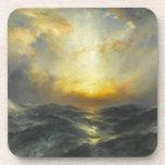 Puesta del sol en el mar - Thomas Moran (1906) Posavasos