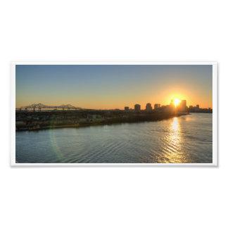 Puesta del sol en el Mississippi Impresion Fotografica