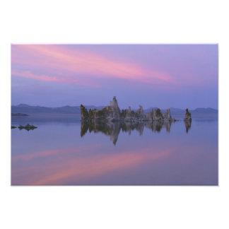 Puesta del sol en el mono lago, CA Fotografias