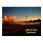 Puesta del sol en el muelle - postal de Santa Cruz