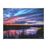 Puesta del sol en el pantano de Suisun - lona Impresiones De Lienzo