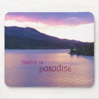 Puesta del sol en el paraíso Mousepad Alfombrillas De Ratones