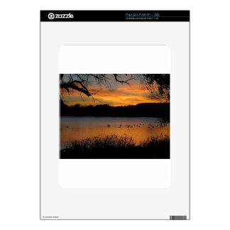 Puesta del sol en el parque de estado de Scott del Calcomanías Para iPad