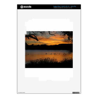 Puesta del sol en el parque de estado de Scott del iPad 3 Pegatinas Skins