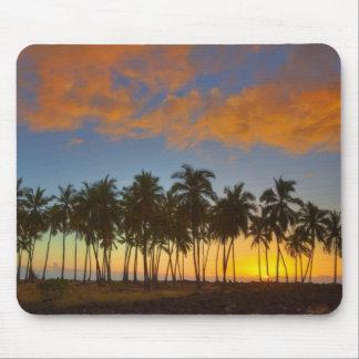 Puesta del sol en el parque histórico nacional Pu' Alfombrillas De Ratones