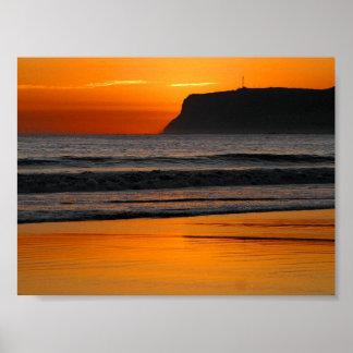 Puesta del sol en el Point Loma Impresiones