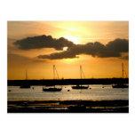 Puesta del sol en el puerto de Bosham, Sussex del Postal