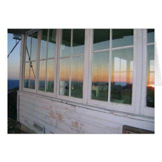 Puesta del sol en el puesto de observación máximo  tarjeta