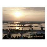 Puesta del sol en el río Misisipi Postales
