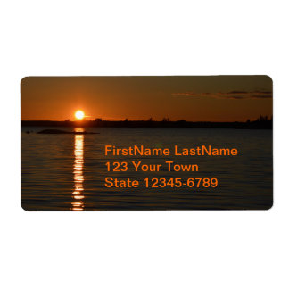 Puesta del sol en el río San Lorenzo - etiquetas Etiquetas De Envío