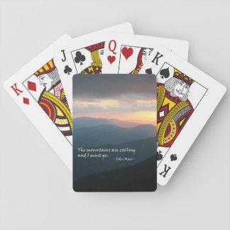 Puesta del sol en el Smokies: Mtns es llamada/Muir Cartas De Póquer