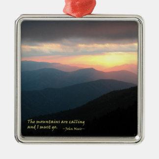 Puesta del sol en el Smokies: Mtns es llamada/Muir Adornos