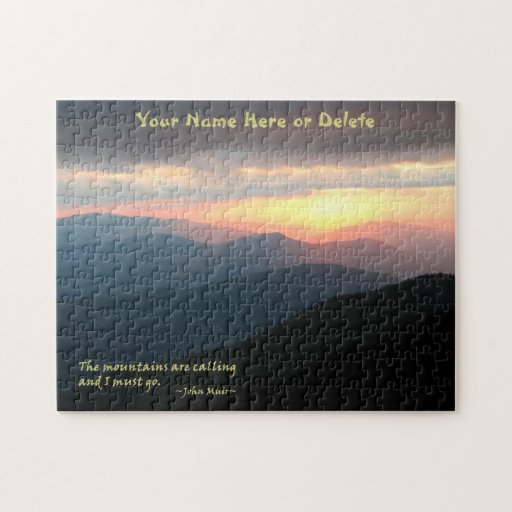 Puesta del sol en el Smokies: Mtns es llamada/Muir Rompecabeza Con Fotos