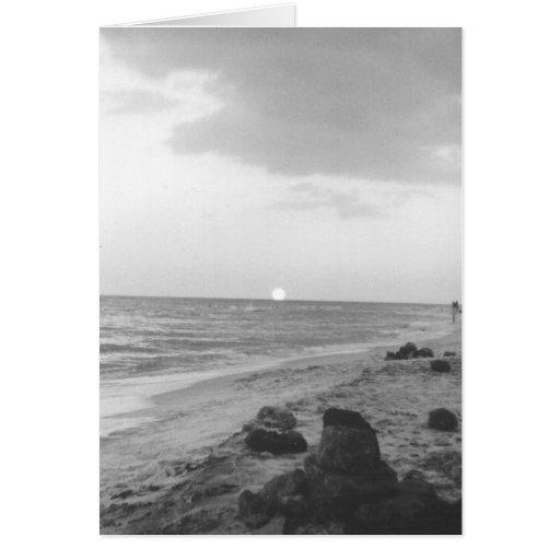 Puesta del sol en Frangista Tarjeta De Felicitación
