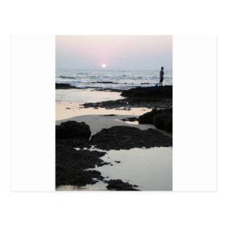 puesta del sol en Goa Postal