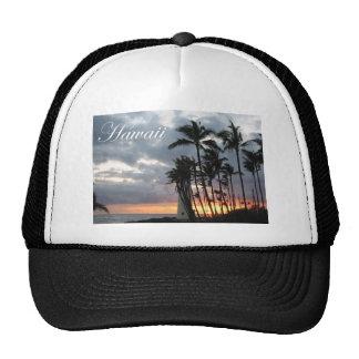 Puesta del sol en Hawaii 2 Gorras