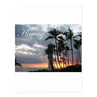 Puesta del sol en Hawaii 2 Tarjetas Postales