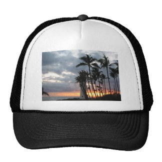 Puesta del sol en Hawaii Gorra
