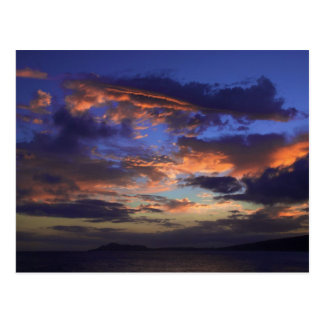 Puesta del sol en Hawaii Kai Tarjeta Postal