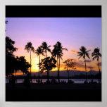 Puesta del sol en Hawaii Posters