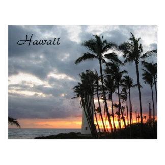 Puesta del sol en Hawaii Postal