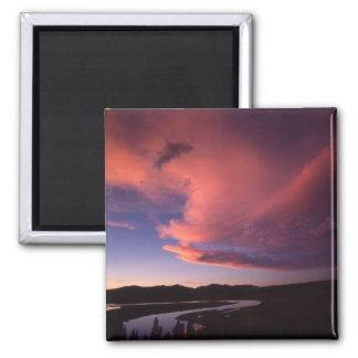 Puesta del sol en imán del valle de Hayden