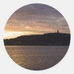 puesta del sol en Irlanda Etiqueta Redonda