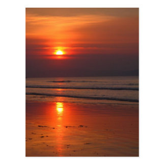 Puesta del sol en Irlanda - mar de Irlanda - Postales