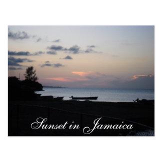 Puesta del sol en Jamaica Postales