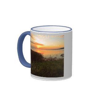 Puesta del sol en Kidwelly Quay Taza De Café