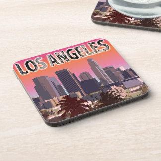Puesta del sol en L.A. California Posavasos De Bebida