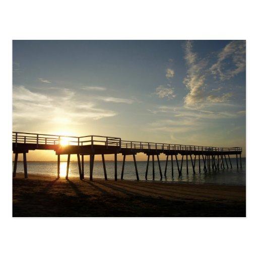 Puesta del sol en la bahía de Hervey Tarjetas Postales