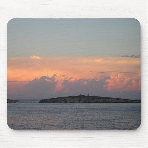 Puesta del sol en la bahía de Pauls del santo, Mal Alfombrilla De Ratones