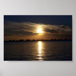 Puesta del sol en la bahía de Sarasota Impresiones
