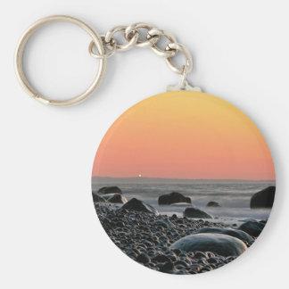 Puesta del sol en la costa de mar Báltico Llaveros Personalizados