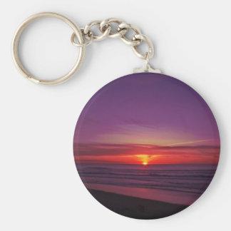 Puesta del sol en la costa de Oregon Llavero